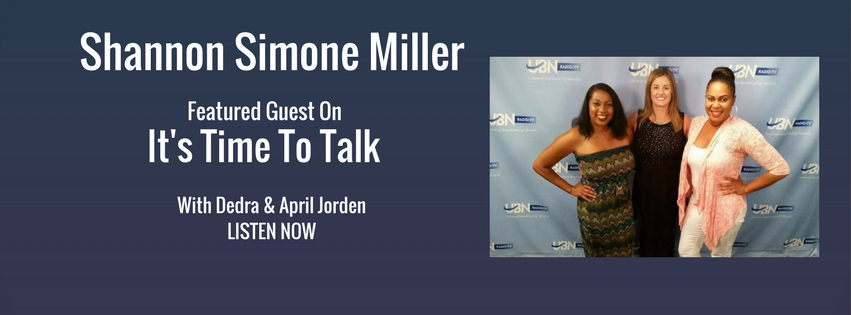 Shannon Simone Simone Miller on It's time to talk show, live from Sunset Gower Studios